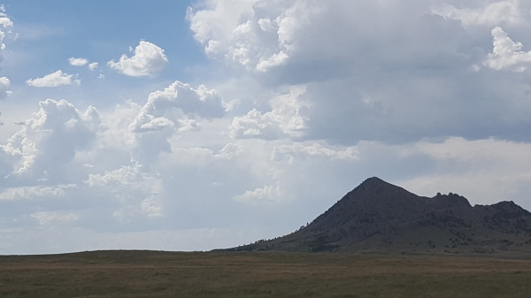 Clouds and Bear Butte